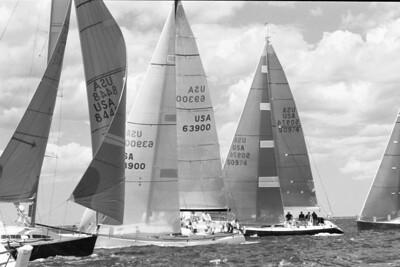 IMS boats at start. Aug 2000