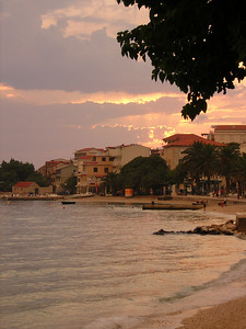 town of Gradac, after early evening thundershower. Aug 2004