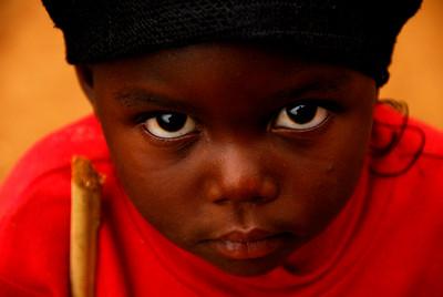 Rwanda Child in Uganda Refugee Camp.