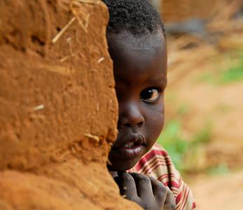 Rwanda Child in Refugee Camp, southern Uganda, East Africa.