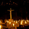 Candles were set in the Archabbey Cemetery during the All Saints ceremony on November 1.