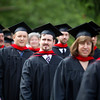 Lay Degree students lined up to process into the Archabbey Church for graduation in May.