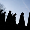 Monks process to the Archabbey Cemetary during the All Souls ceremony on November 2.