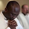 A participant in the Institute for Priests and Presbyterates World Priests Program prayed during Mass in the St. Joseph Oratory on April 19.