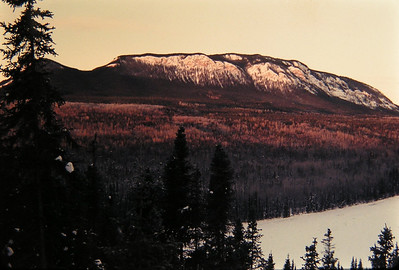 Alaska Hwy - Allens lookout,  on the Laird River, near Lower Post B C, nov 29, 1972