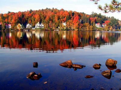 10  October  Lake Flower, Saranac Lake,NY, hwy 86, oct 8, 2004ac-1