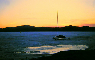 3  March  Ice Boat, Lonesome Bay, Lower Saranac Lake,  apr 1970sm