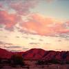 Arizona, Foothills,  Gila Mts sunset, Apr, 1989 400dpi