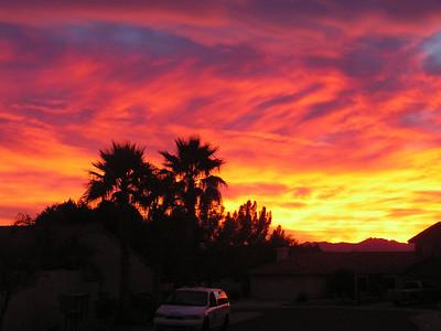 Arizona, Ahwatukee,  sunset, dec 8, 2008b  400dpi