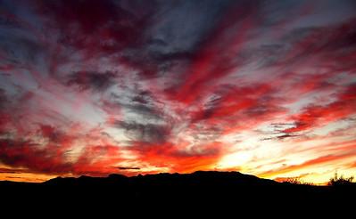 Arizona, near St  David, sunset on the Whetstone Mts,  nov 25, 2006  400dpi