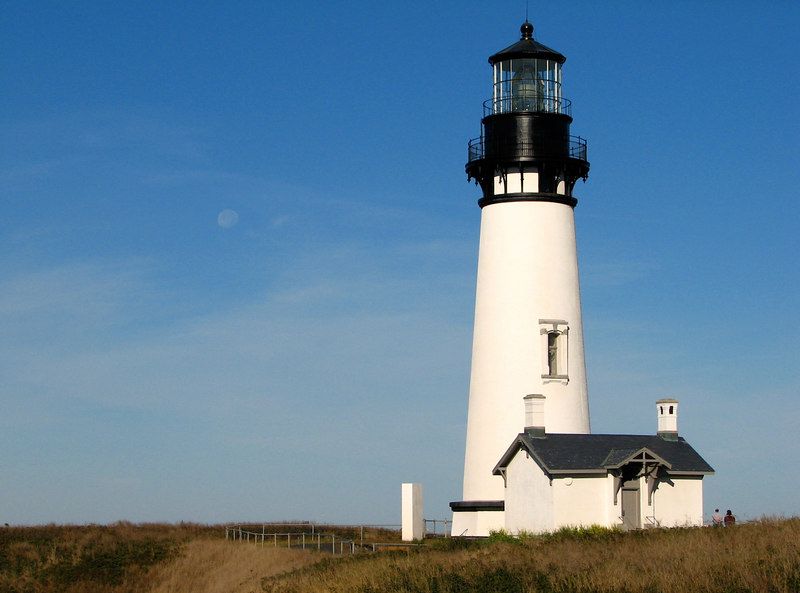 The lighthouse at Yaquina Head.