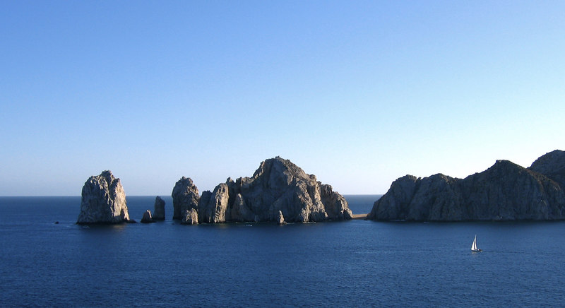 Cabo San Lucas, taken from the observation deck of the ms Oosterdam, a Holland-America cruise ship.