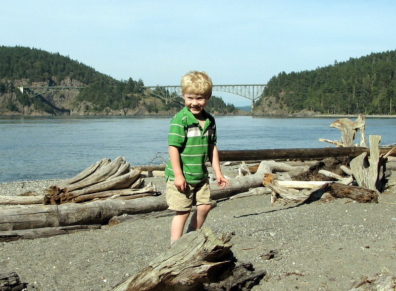 Dan at Deception Pass State Park, Whidbey Island, Washington.