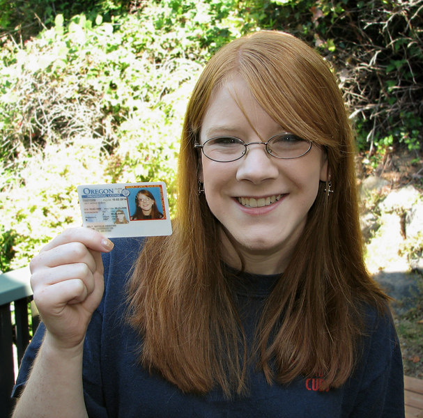Here's Tali with her brand new driver's license!