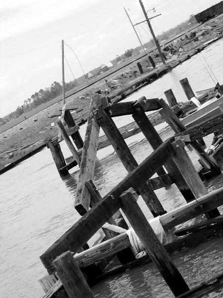 Some Katrina damaged dock, Slidell, LA.