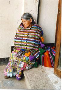 Lady taking a rest in Guatemala