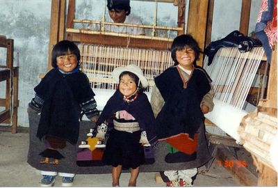 Cute children in Ecuador (1996)