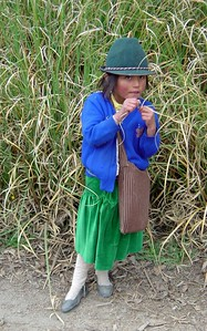 school girl in Ecuador