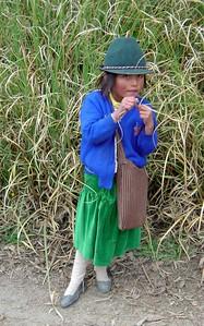 school girl in Ecuador