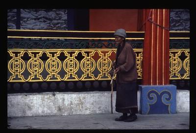 Lady praying in Sikkim (India)