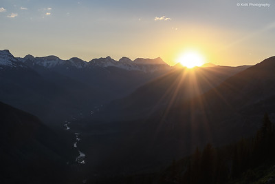 Sunset at Glacier National Park