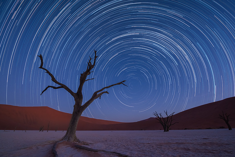 Nam 089 Star Trails Deadvlei Namibia