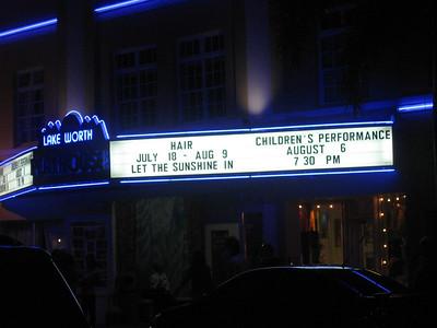 """Hair,"" Lake Worth Playhouse, Lake Worth, Fla. August 2008."