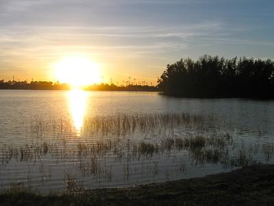 Sunset, Okeeheelee Park, West Palm Beach, Fla. October 2008.