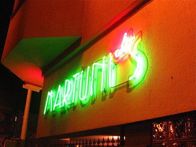 Martuni's, my favorite place to get martinis when in SF, November 2010.