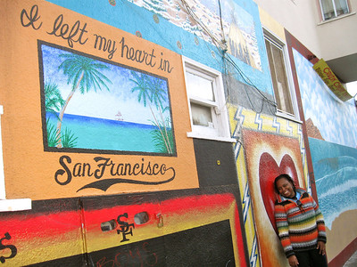 Me in The Mission, San Francisco, November 2010. The writing on the wall says it all.