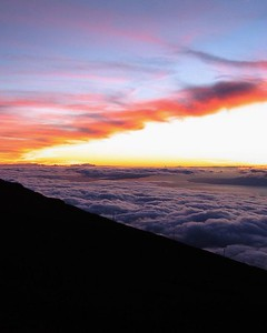 Haleakala sunset, Maui, Hawaii.