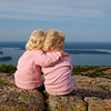 "Kamryn & Sydney looking at Bar Harbor, ME from Cadillac Mountain in Acadia National Park.  Can you say, ""Aww!"""