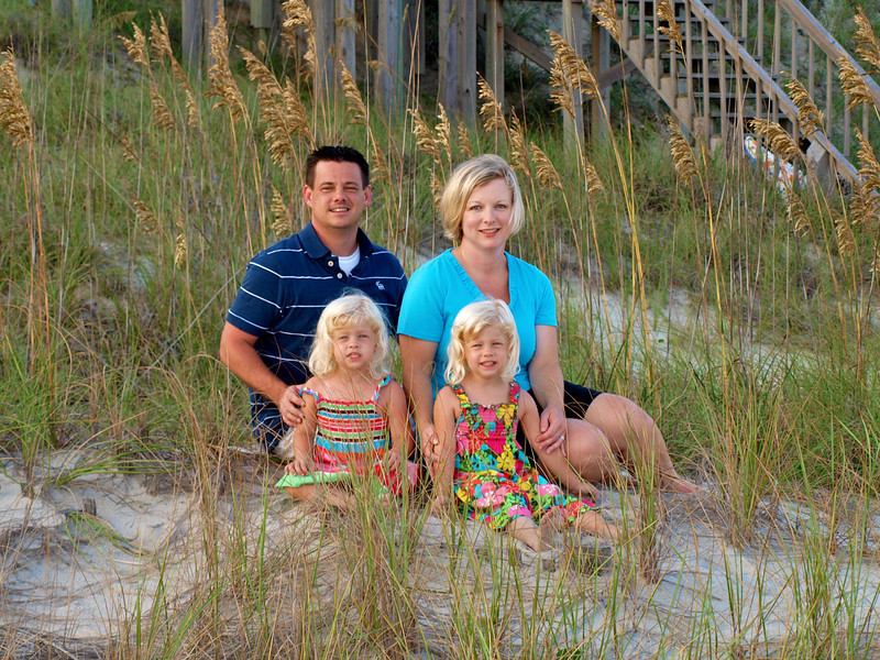 The family at Emerald Isle, NC