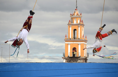 Cultural performance in Cholula.