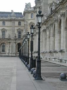 Lightposts in the courtyard of Versailles