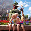 Sydney & Kamryn arrive at Epcot!