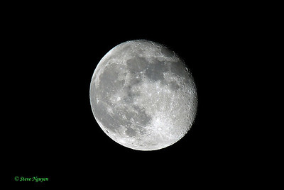 Moon captured with Sigma 50-500mm lens.