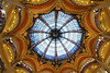 Some churches in Italy and France had some awesome stained glass, but nothing on the scale of the sky dome ceiling of the Lafayette Galleries. It is approximately 100 feet across and very ornate.