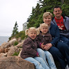 The family at Bass Harbor Head Lighthouse, Acadia National Park, ME