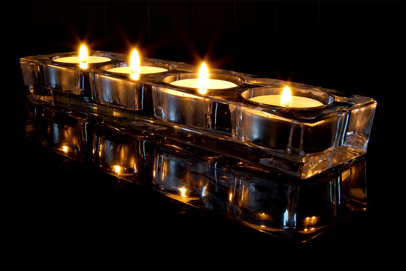 Candles in Holder 2