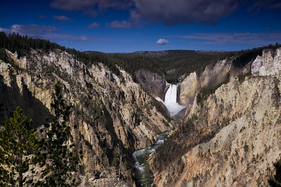 South Rim in Yellowstone Canyon- Artist Point view of the Lower Falls