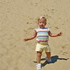 Sydney running down the sand dune