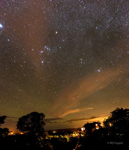 The night sky and Orion