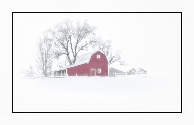 Mead Colorado Barn in the Winter