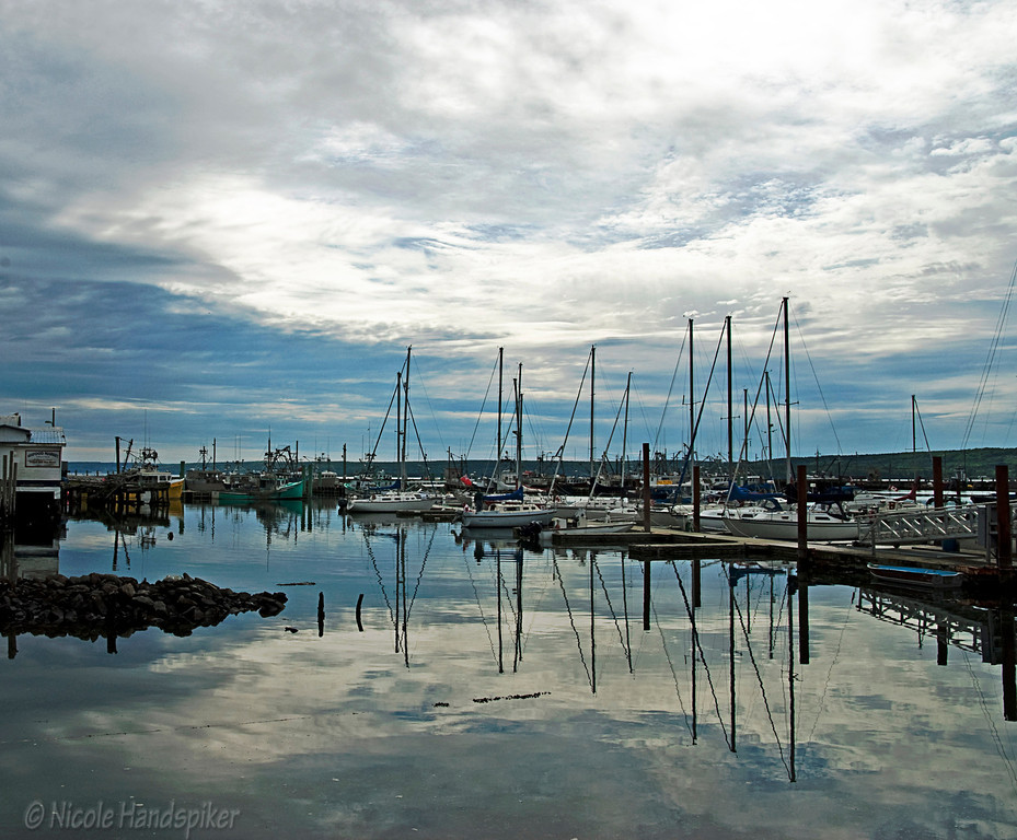 Digby Marina and wharf, beautiful spot on a calm day!
