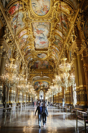 Inside the gorgeous opera house in Paris.
