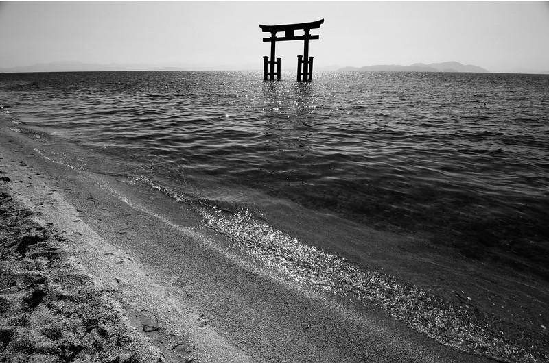 Torii at Lake Biwa
