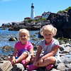 Kamryn & Sydney at Portland Head Lighthouse, ME