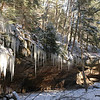 Hiking in frozen canyons at Turkey Run State Park in the Winter - Rockville Indiana