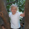 Kamryn playing in the trees at the NC State Fair.